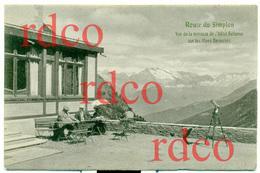 CH SUISSE, Route Du Simplon, Vue De La Terrasse De L'Hôtel Bellevue Sur Les Alpes Bernoises; Switzerland - Non Classificati