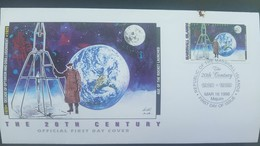 O) 1998 MARSHALL ISLANDS, SPACE, JOHN GLENN - DECADE OF OPTIMISM AND DISILLUSIONMENT- AGE OF THE ROCKET LAUNCHED, FDC XF - Marshall Islands