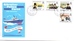 GIBRALTAR 1980 POLICE  FORCE FDC   (SET180222) - Gibraltar