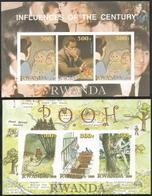 Rwanda,  Scottt 2013 # New Issue,  Issued 2000,  Perf + Imper S/S Of 4,  MNH,  Cat $ 7.00, Disney - Rwanda
