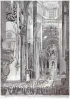 Gravure D Epoque 1863   Expedition Du Mexique MEXICO   Te Deum Chanté Dans La Cathédrale - Ohne Zuordnung