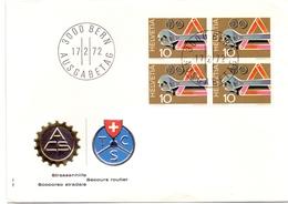 HELVETIA BERN 1972 SECOURS ROUTIER COVER  (SET180223) - Incidenti E Sicurezza Stradale