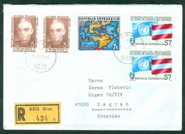 Austria 1992 Europa CEPT Discovery Of America Ocean Reimmichl UN Soldier Recommended Letter Cover - 1981-90 Cartas