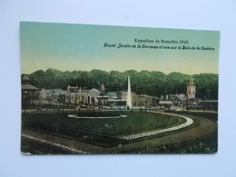 Exposition De Bruxelles 1910;  Grand Jardin De La Terrasse Et Vue Sur Le Bois De La Cambre - Expositions Universelles