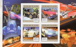Republique De Guinée - Les Voitures Du Monde - Ford T-Cadillac-Mustang-BMW Gina  -  4v Feuillet Neuf/MNH - Voitures
