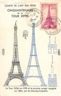 P-T3-18-5931  : CINQUANTENAIRE DE LA TOUR EIFFEL  23 JUIN 1939 - Commemorative Postmarks