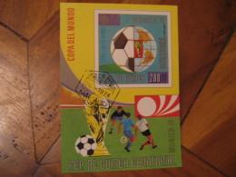 MALABO Guinea Ecuatorial 1974 Cancel Imperforated Bloc MUNICH Germany FOOTBALL World Cup Championship Futbol Soccer - Coppa Del Mondo