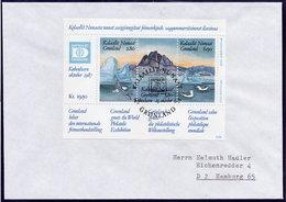 GREENLAND 1987 HAFNIA '87 I Block On FDC  Michel Block 1 - FDC
