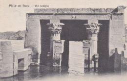 1910-Egitto Phile On Flood The Temple ,cartolina Viaggiata - Egypt