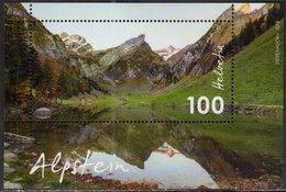SWITZERLAND, 2018, MNH, MOUNTAINS, ALPS, LANDSCAPE, S/SHEET - Geology