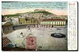 CPA Napoli Piazza Plebiscito E Castel S Elmo - Napoli (Naples)