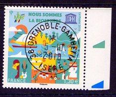 France 2018.Coin Daté.UNESCO.Cachet Rond Gomme D'Origine. - France