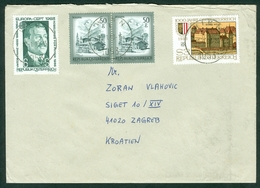 Austria 1983 Europa CEPT Viktor Franz Nobel Prize Physics Castle Wels Letter Cover - 1945-.... 2nd Republic