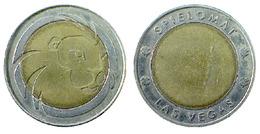01573 GETTONE TOKEN JETON AMUSEMENT CENTER GAME TOKEN SPIELOMARK SPIELOMAT BIMETALLIC LION - Allemagne