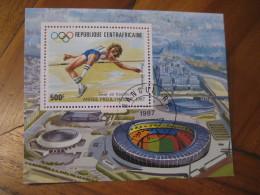 BANGUI Republique Centrafricaine 1987 Cancel Bloc SEOUL 1988 Olympic Games Olympics SOUTH KOREA Athletics High Jump - Ete 1988: Séoul