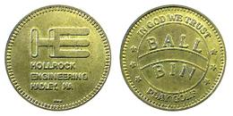 03432 GETTONE TOKEN JETON AMUSEMENT SPORT EQUIPMENT GOLF HOLLROCK ENGINEERING HADLEY MA - USA