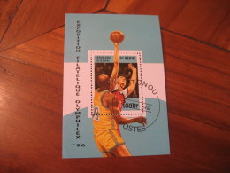 COTONOU Benin 1996 Cancel Bloc ATLANTA 1996 Olympic Games Olympics USA Basketball Basket Baloncesto - Zomer 1996: Atlanta