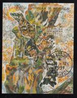 Madagascar 1991 Used Scott #978 Souvenir Sheet 1500fr Upupa Epops Birds - Madagascar (1960-...)