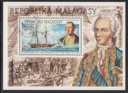 Madagascar 1976 Used Scott #C140 500fr George Washington, Ship American Bicentennial - Madagascar (1960-...)
