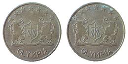 03236 GETTONE TOKEN JETON AMUSEMENT GAME PLAY MACHINE OLYMPIA - Royaume-Uni