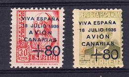 ESPAÑA 1937.CANARIAS EDIFIL Nº 15 + 16  NUEVOS SIN CHARNELA.SES073 - Emisiones Nacionalistas