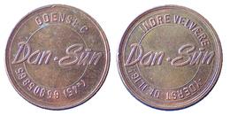 03241 GETTONE TOKEN JETON DENMARK TANNING CENTER CENTRO ABBROZZATURA DAN SUN ODENSEC - Tokens & Medals