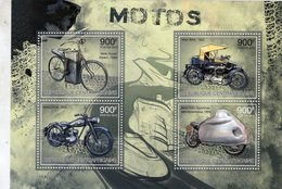 Republique Centrafricane - Moto Roper-BSA-DKW-NSU Sportmax 1959  -  4v Feuillet Neuf/MNH - Motorräder