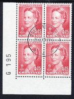 GREENLAND 1996 Definitive 4.50 Kr. In Used Corner Block Of 4.  Michel 283y - Greenland