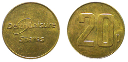 01667 GETTONE TOKEN JETON VENDING MACHINE DEITH LEISURE SPARES 20 P - Royaume-Uni