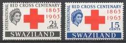 Swaziland Mi# 109-10** RED CROSS - Swaziland (1968-...)