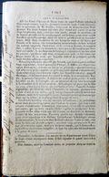 21 DAMPIERRE SUR VINGEANNE CRIME FAIT DIVERS HORRIBLE PEINE DE MORT POUR L'ASSASSIN DE M BOIDET CURE 1818 - Décrets & Lois