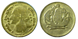 01465 GETTONE TOKEN JETON PLAY TOKEN GOLDED REPRO ENGLISH OLD TOKEN - Royaume-Uni