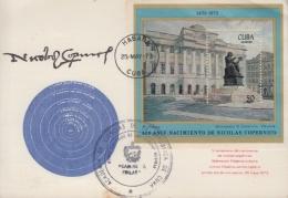 1973-CE-15 CUBA 1973 SPECIAL CANCEL. NICOLAS COPERNICO, POLAND, SCIENCE COSMOS. - Otros