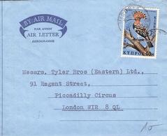 CYPRUS - AIR LETTER 1970 NICOSIA -> LONDON Mi #326 - Zypern (Republik)