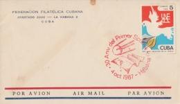 1987-CE-51 CUBA 1987 SPECIAL CANCEL. 30 ANIV PRIMER SPUTNIK, HABANA, RED CANCEL, RUSSIA. - Cuba