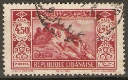 Lebanon  1930 SG  172  4.50 Overprint   Fine Used - Liban