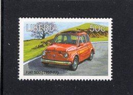 Liberia  -  Classic Cars -  Fiat 500 (1957-1977)     -  1v MS Neuf/Mint MNH - Coches