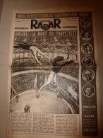 1949 RADAR: Amiens: Mort Du Trapeziste;Tarascon,Tartarin Et La Tarasque;Fausto Coppi;etc - Newspapers