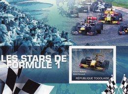 Togolaise - Les Stars De Formule 1  - Robert Kubica  -  BMW/Renault - 1V MS Neuf MNH/IMPERF - Automobile