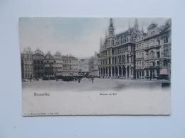 CPA : Bruxelles , Maison Du Roi , Carte Coloré , Animation  1900 - Monuments, édifices