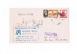 India - First Flight India - Bangladesh - Calcutta - Dacca - 1971 - Airmail