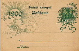 Germany ( Deutsches Reich) Postal Stationery Card From 1900 With Sun And Clouds - Germany