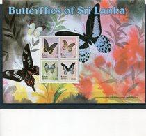 SRI LANKA 1978 BLOK BUTTERFLIES MNH. - Sri Lanka (Ceylon) (1948-...)