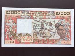 WEST AFRICAN STATES P709KM 10000 FRANCS 1992 AUNC+ - États D'Afrique De L'Ouest