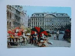 CPA : Marché Aux Fleurs , Grand' Place , Grote Markt Bloemekraam  1957 - Marchés