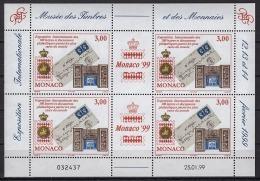 MONACO 1999  N° 2190  EN FEUILLE DE 4 TP  -  NEUFS ** - Blocks & Sheetlets