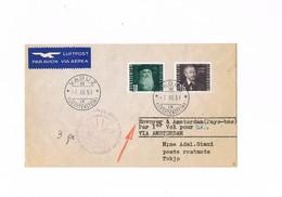 Liechtenstein - KLM First Flight - Vaduz Via Amsterdam - Tokyo - 1951 - Posta Aerea
