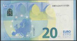 "EURO 20  ITALIA SB S021  ""42""  DRAGHI  UNC POKER 1111 - EURO"