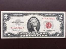 UNITED STATES P382 2 DOLLARS 1963 XF+ - Billetes De Estados Unidos (1928-1953)