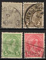 LUSSEMBURGO - 1895 - ADOLFO DI PROFILO - USATI - 1895 Adolphe Right-hand Side